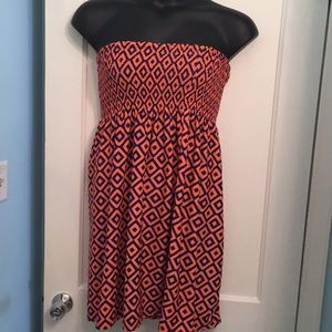 Dresses & Skirts - ⚠️Orange & Blue Strapless Dress